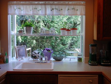 We just have a small kitchen with an attached dining area for Garden window